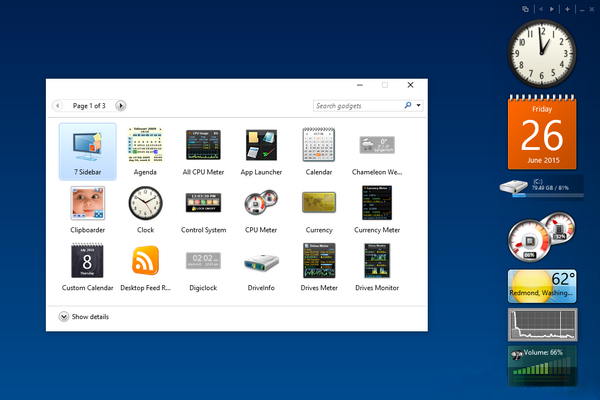 8GadgetPack на Windows 10