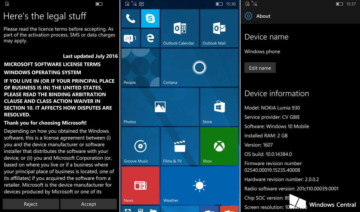Windows 10 Mobile Insider Preview 14384
